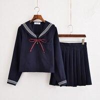 Girls Japanese School Uniform Japan Navy Sailor Uniform Graduation Clothing School Shirt Skirt Students Sets