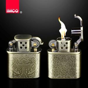 Image 1 - 2018 עיצוב רטרו בנזין Lighter סיגריה גלגל שחיקה גז שמן נפט קל הגאדג טים גברים רטרו בר מציתי סיגר טבק