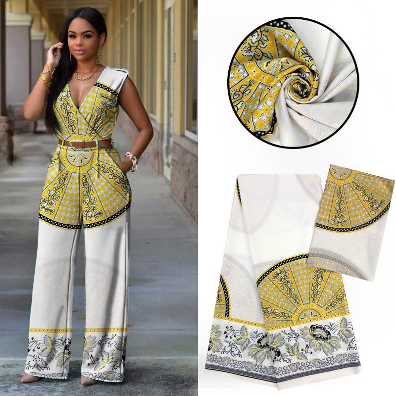 LIULANZHI modal tissu en gros imprimé en mousseline de soie tissu audel tissus 4 + 2 yards par lot africain femme fête vêtements ML9LL81-87