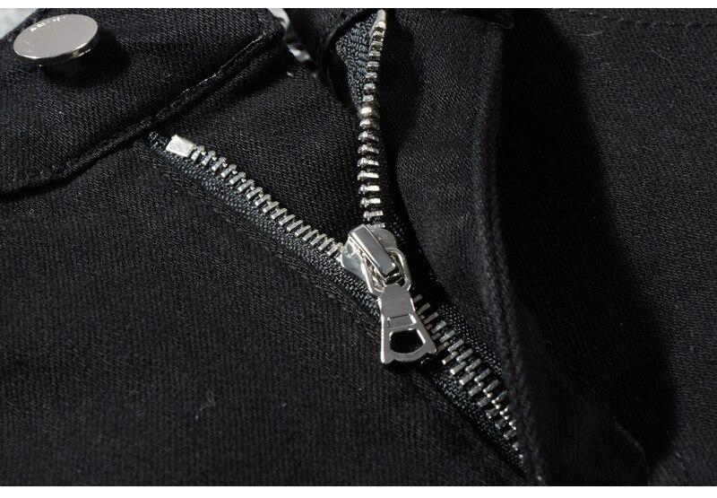 Royles Men's skinny black ripped jeans 6