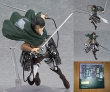 15CM Anime Figure Attack on Titan Figma Levi Shingeki no Kyojin Stylis 6″ PVC Action Figure Collectible Model Doll Toy For Kids