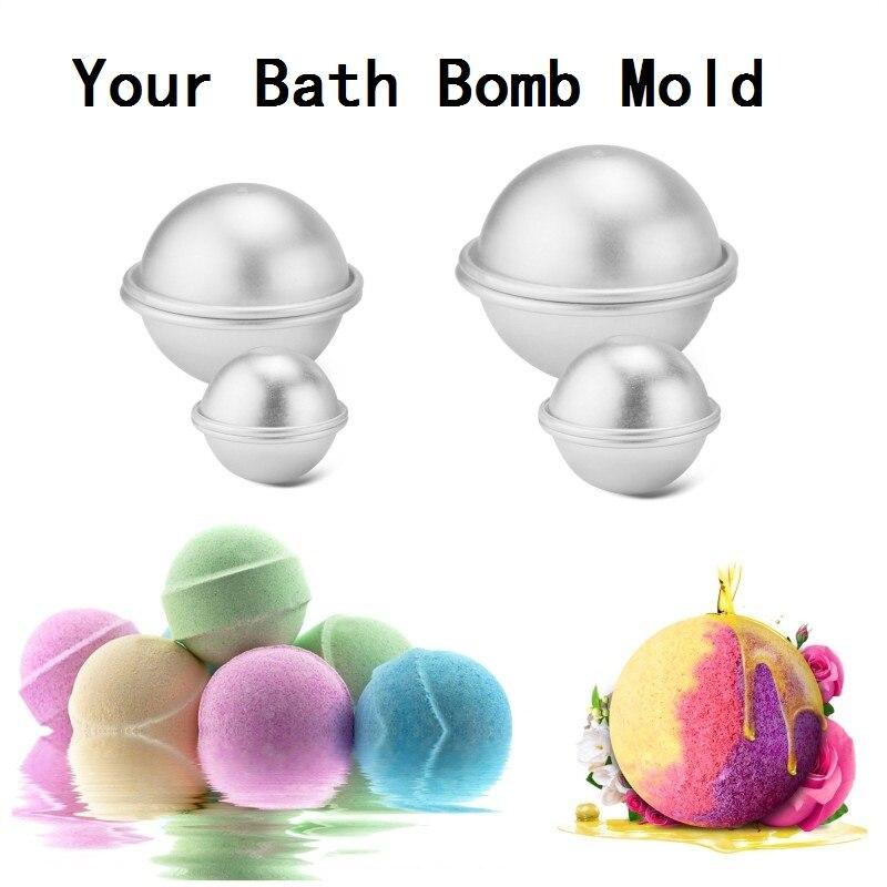2 PCs  4.5cm Bath Bomb Mold Bath Bomb Ball Maker Handmade Bath Explosion Ball Mould Manual Soap Round Shaped M2043