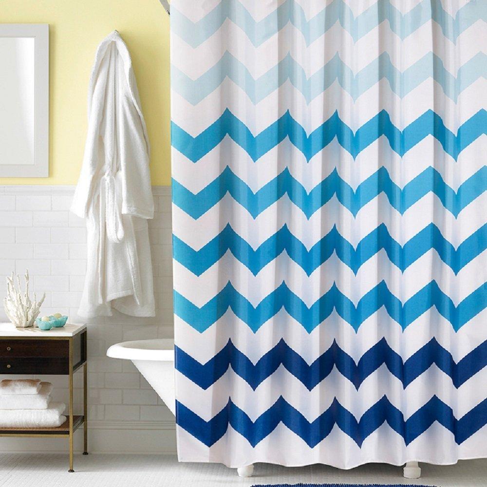 Aqua chevron shower curtain - Chevron Shower Curtain Cheap Cheap Navy Chevron Shower Curtain