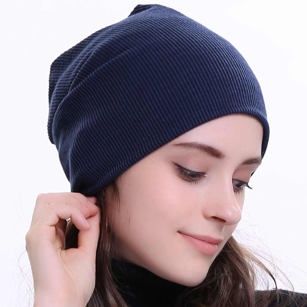 c46192dbb79 Geebro Women Beanie Knitted Ribbed Beanies Hat Winter Cap Solid Color  Slouch Hats Skullies chapeu feminino
