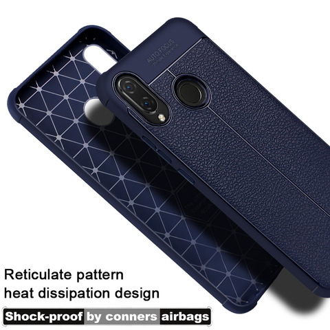 Airbag shockproof For Huawei P Smart Plus Huawei Nova 3I Case Imak Leather pattern soft TPU Back cover Anti Fingerprint Cases Karachi