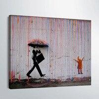 HD Baskılı 1 parça tuval sanat banksy graffiti sanat Boyama şemsiye tuval poster tek panel tuval Ücretsiz nakliye/gg-6366