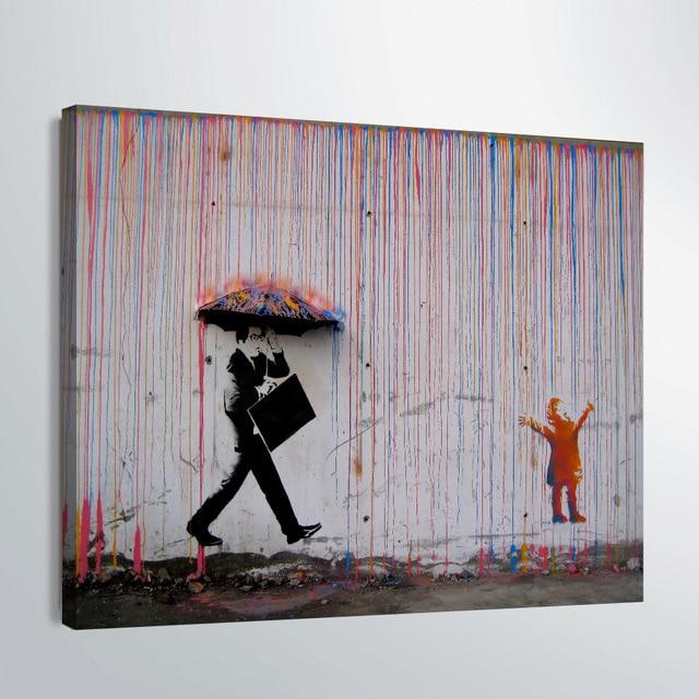 acheter hd imprim 1 pi ce toile art banksy graffiti art peinture parapluie. Black Bedroom Furniture Sets. Home Design Ideas