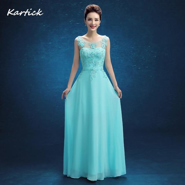 ebc0d4914 € 48.67 10% de DESCUENTO|Última moda vestidos de dama de honor V Back  elegante chifón vestido de novia damas mujeres chicas baile fiesta ...