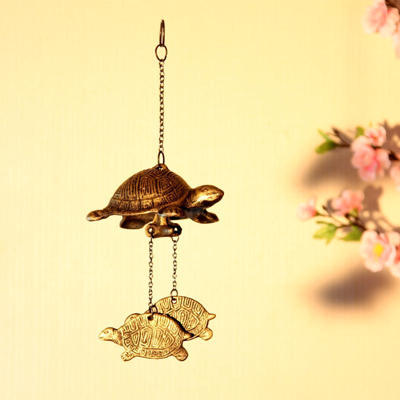 Japanese Style Iron Casting Three Turtle Patio Decorative Wind Chimes/Wind Bells, Vintage Home/Balcony Decoration