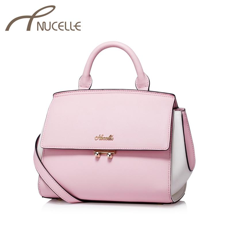 Nucelle Women Split leather Handbag Ladies Patchwork Fashion Lock Tote Messenger Bags Female Shoulder Corssbody Bags NZ5843