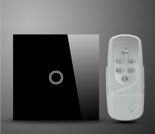 Home Automated Lighting: 1gang EU RF433 Smart Wireless Remote Wall Switches,smart