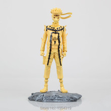 New 25cm japanese anime Naruto Shippuden Naruto Uzumaki Nine models toy of gold skill figures action figure pvc juguetes hot