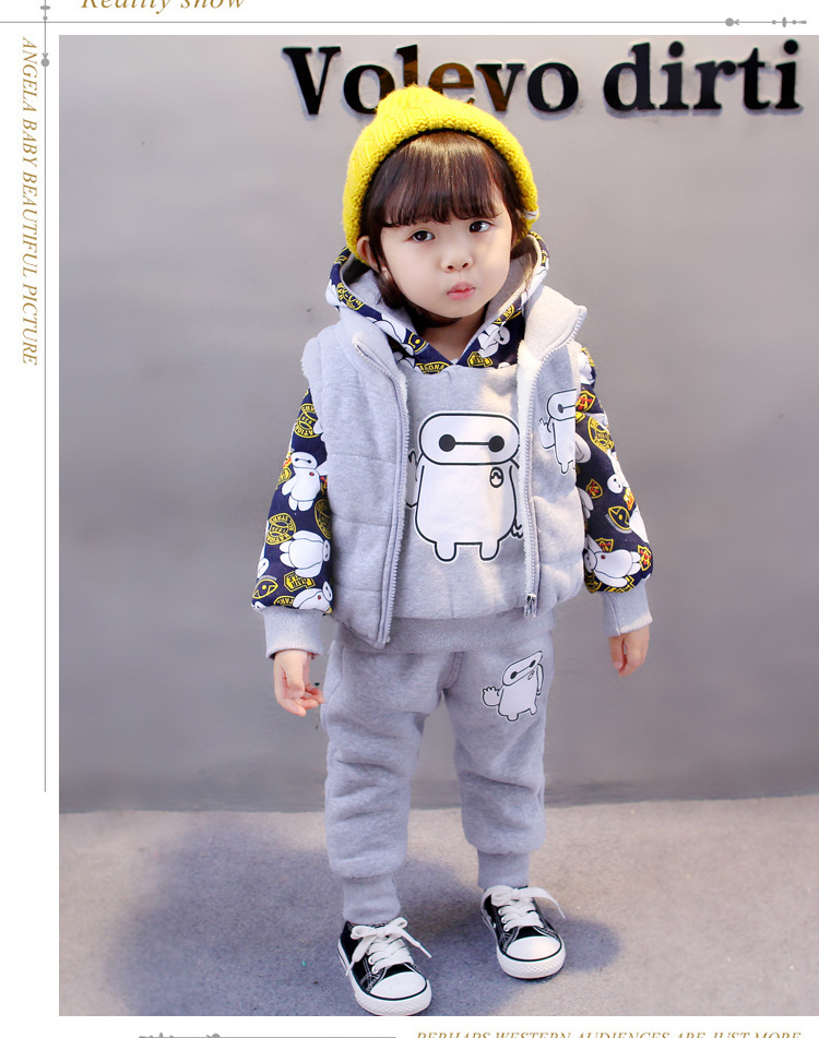 baby girl boy clothes Kid New 1-2-3-4 year old baby suit three piece white thickened cartoon three piecebaby girl boy clothes Kid New 1-2-3-4 year old baby suit three piece white thickened cartoon three piece