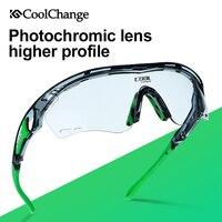 CoolChange Bicycle Glasses Photochromic Polarized Cycling Sunglasses Outdoor Sports MTB Bike Goggles Eyewear Myopia Frame