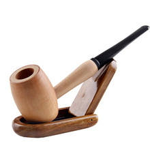 1 Pieces New Fashion Wood Smoking Pipe Easy to Clean Free shipping Gift Tobacco Pipe Wooden Pipes Wood Smoking Pipe Handmade