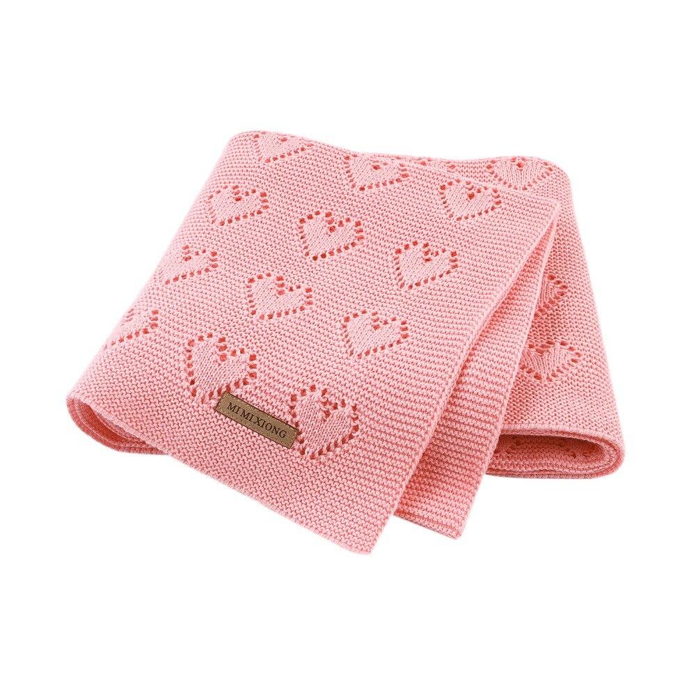 Cotton Baby Blanket Knitted Newborn Swaddle Wrap Blankets Super Soft Toddler Infant Bedding For Bed Sofa Basket Stroller Quilt