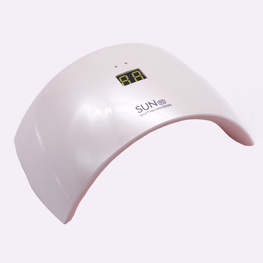 Professionnel 24 W UV LED Ongles Lampe 09c 09 s gel nail machine durcissement durcir gel polonais mieux à des fins personnelles maison manucure