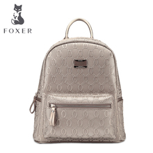 FOXER Girls Cow leather Backpack school bag ladies women big style