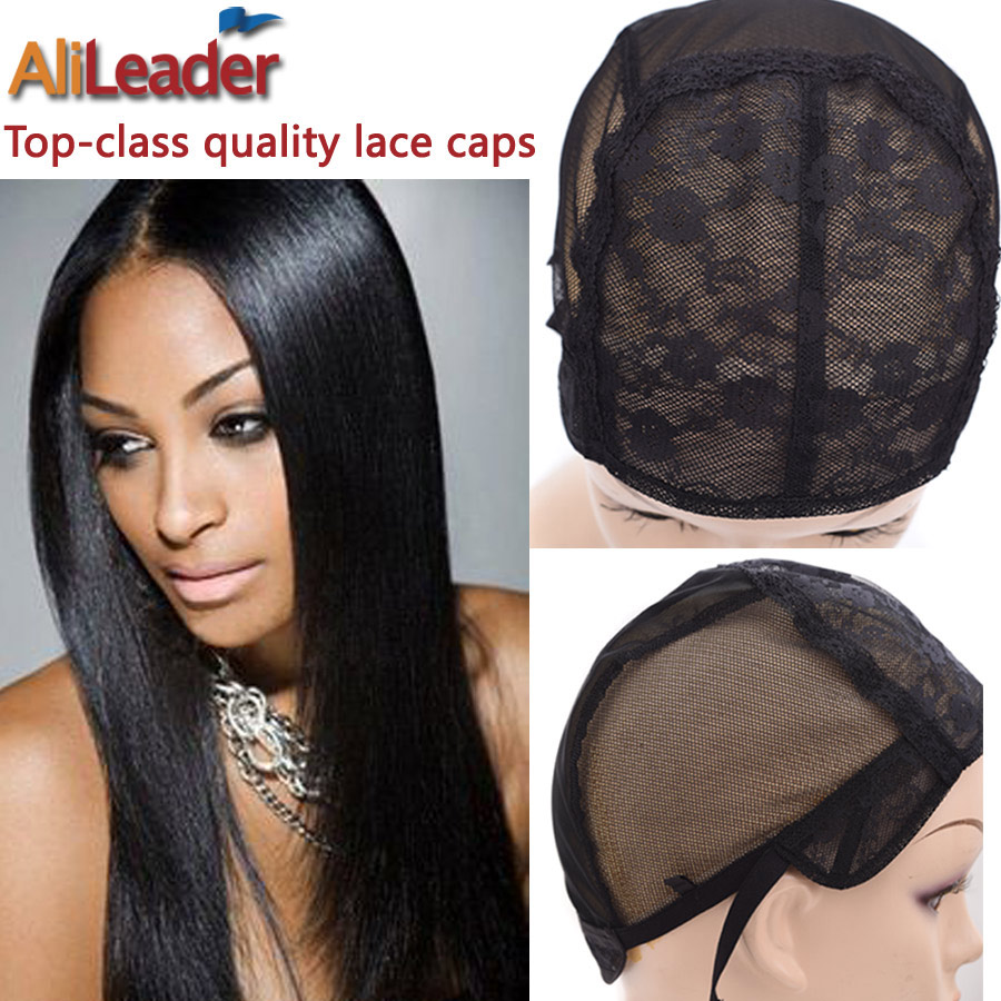 Top Four Size S/M/L/XL Weave Cap For Making A Wig Hair Cap For Making Wigs Double Lace Front Wig Caps Base With Adjustable Strap metalowe skrzydła dekoracyjne na ścianę