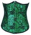 Jusian Women ' s Sexy corsé de la ropa interior deshuesada Bustier ropa interior de la talladora negro rojo verde AME-2869A