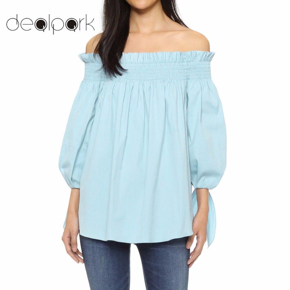 XXXXL 3XL 4XL 5XL Plus Size Blouses Women Off Shoulder Top Female Shirts Sexy Ruffle Long Tops Tunics Oversized White/Black/Blue