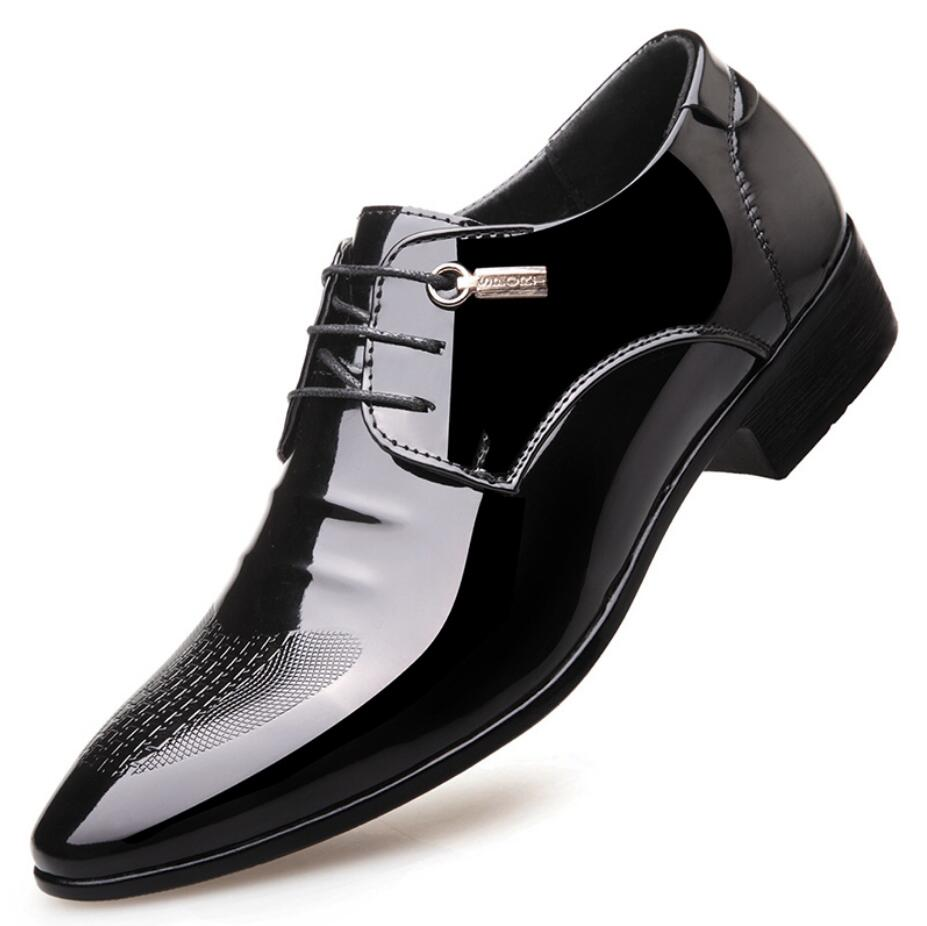 2017 Spring Autumn business shoes leather fashionable wedding dress gentle breath of Oxford mens pointed shoes
