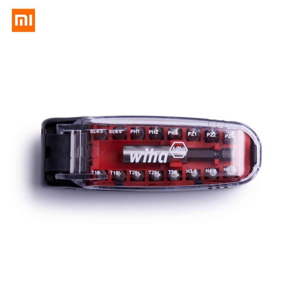 Original XIAOMI Wiha 17IN1 Magnetic Wrench Screwdriver Bits Kit Crocodile Mouth Mini Protable Pocket Screwdriver Set Repair Tool