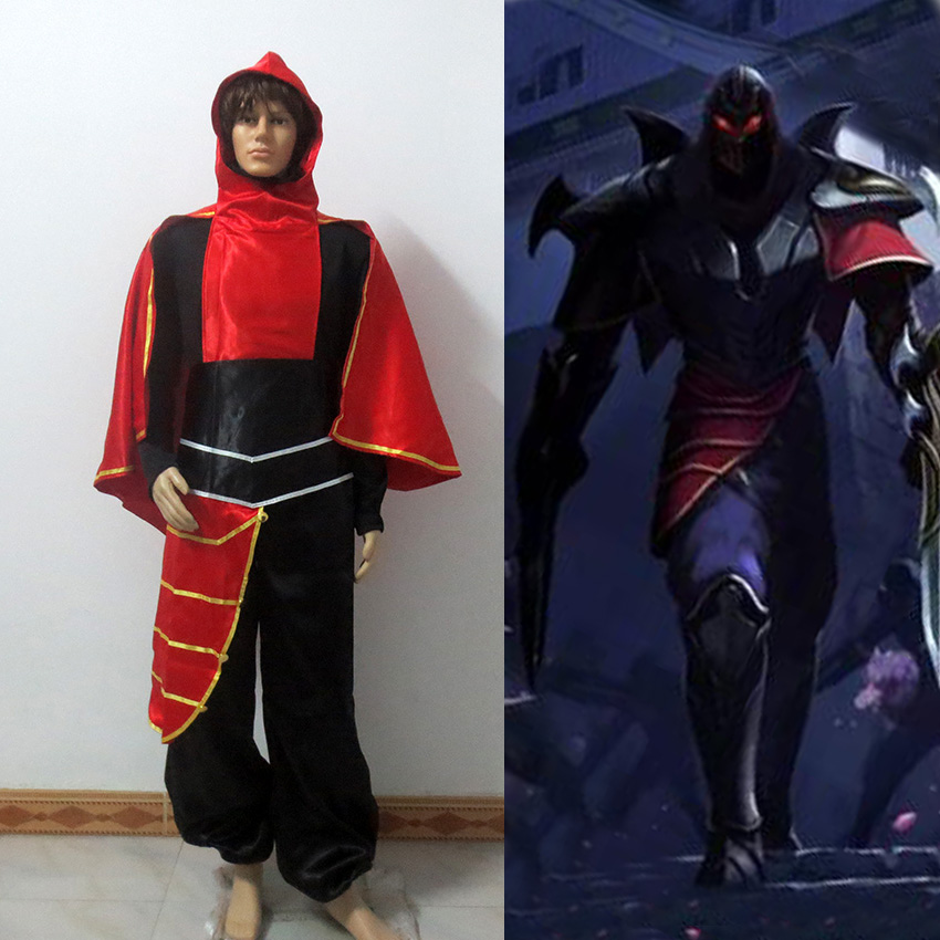 Zed Cosplay Costume the Master of Shadows Adult Halloween Carnival Costume veil of shadows
