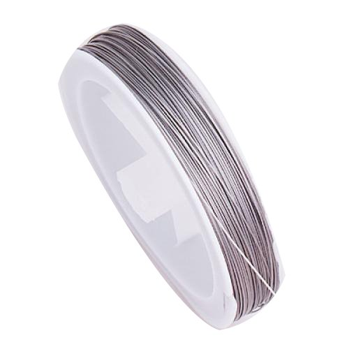 WSFS Hot Tiger Tail Fil pour Enfiler des Perles - 90m / 0,45 mm / dArgent