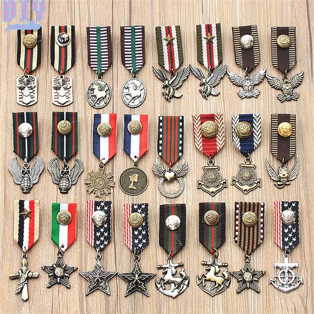RU Англия пять звезд Орел лошадь военный металлический значок Ретро Фабри плечо доска армейские знаки различия булавки на брошь медаль ручной работы