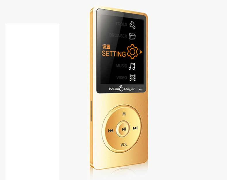 IQQ X02 8GB MP3 Music Player 1.8 Inch Screen 30h lossless sound, Support up to 64GB Micro SD Card Gold Built in Speaker FM Ebook (17)