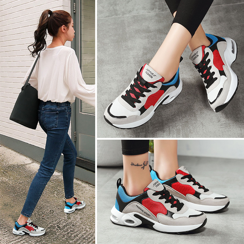 Zapatillas Deportivas Mujer Women Sneakers 2018 New Trending Style Chaussure Femme Colorful Casual Shoes Flat Heel Size 35-40 2017brand sport mesh men running shoes athletic sneakers air breath increased within zapatillas deportivas trainers couple shoes