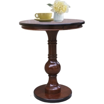American style solid wood side round table European style simple small round table phone table sofa side table renmen side table walnut