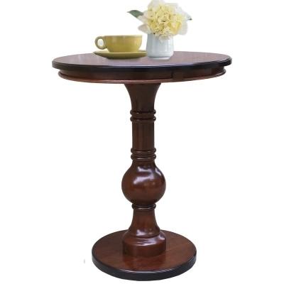 Estilo americano de madeira sólida lado estilo simples telefone pequena mesa redonda mesa redonda Europeia sofá mesa lateral mesa