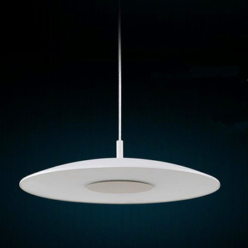 LED Simple Chandelier Round Modern White Chandelier Creative Cafe Light CD-010