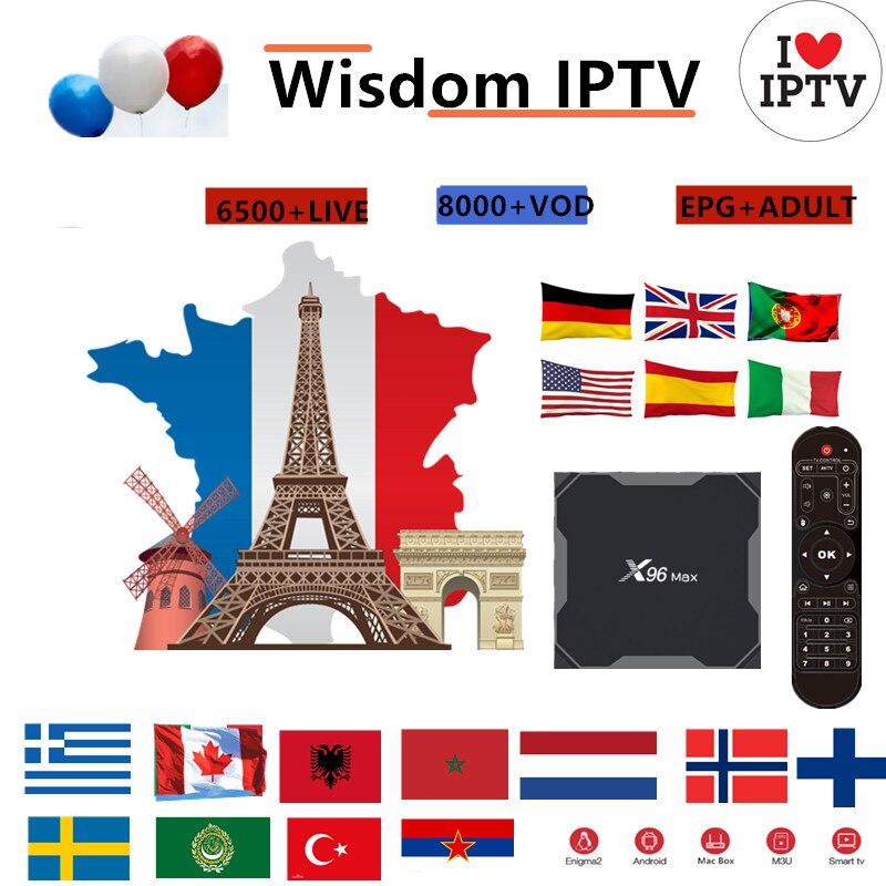 Europe IPTV Subscription Wisdom France UK German Arabic Dutch Sweden French Poland Portugal Smart TV IPTV M3U 6000 Live X96 Max