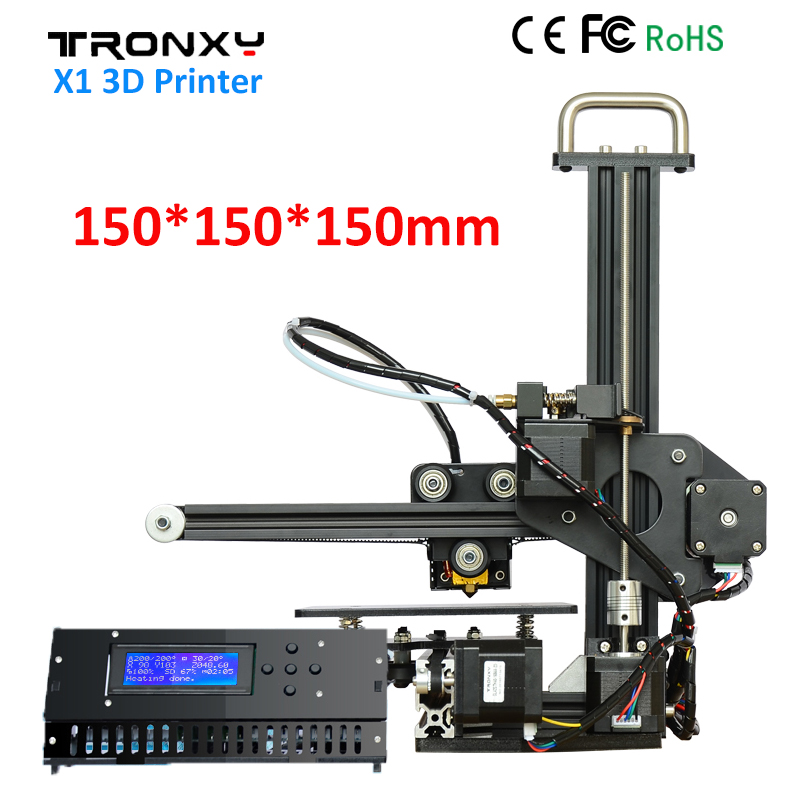Tronxy X1 3D Printer DIY Kit Upgraded Quality High Precision Print 150*150*150mm Acrylic LCD screen 3D Printer DIY Aluminum Fram tronxy 3d printer mega full metal frame colorful industrial grade high precision affordble diy kit software