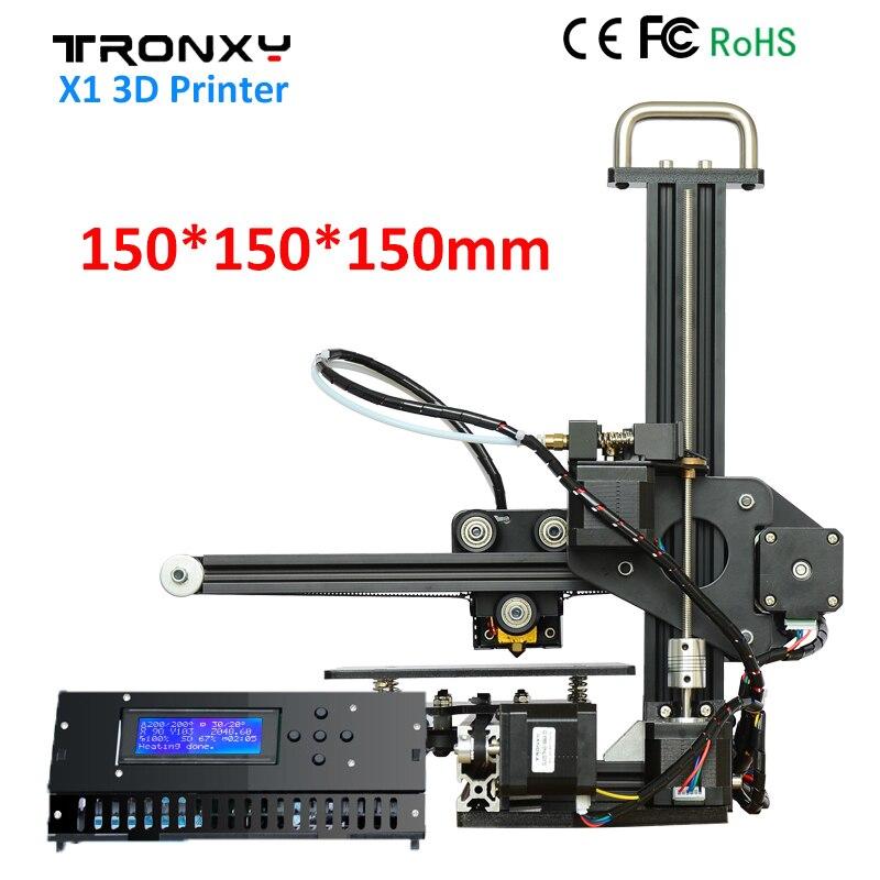 new updated version digital mini 3d printer fast prototyping machine kit 150 150 220mm print size and own software Tronxy X1 3D Printer DIY Kit Upgraded Quality High Precision Print 150*150*150mm Acrylic LCD screen 3D Printer DIY Aluminum Fram