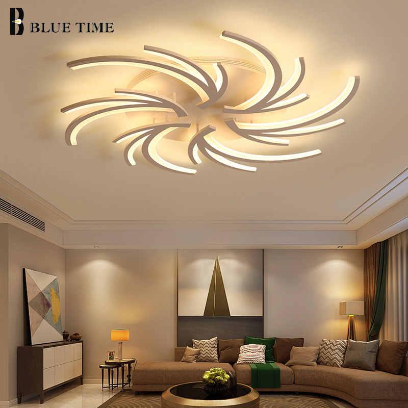 Минималистский Творческий современные светодиодные потолочные светильники для Гостиная Спальня белый Цвет домашний светодиодный потолочный светильник светильники AC110V AC220V