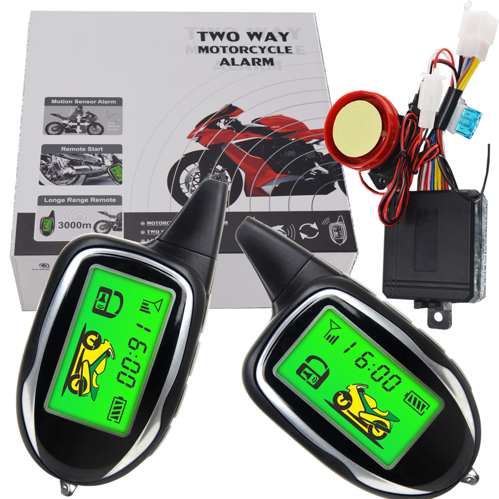 Automotive Motorcycle Cycle Alarm With 2 Way Paging System
