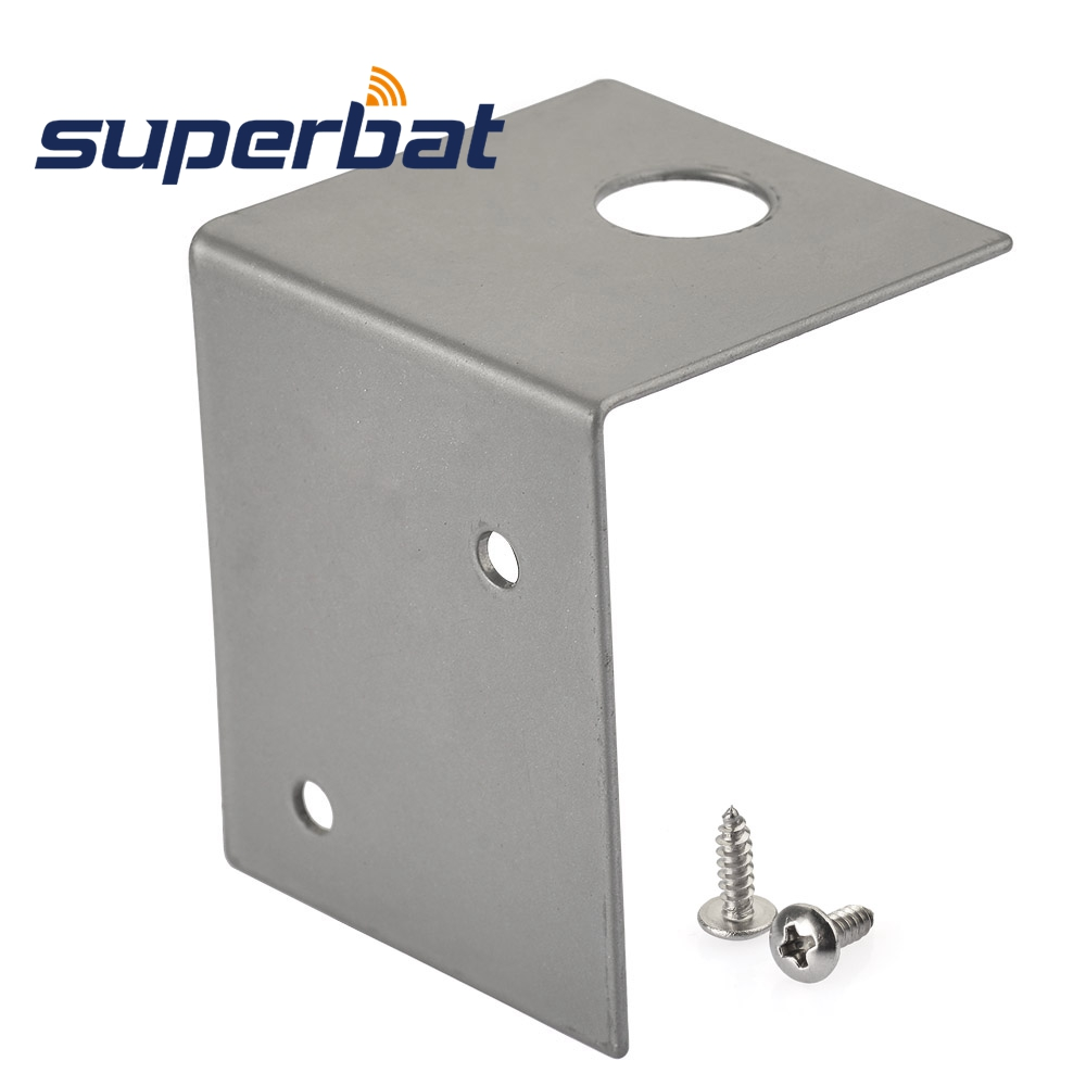 Antenna Mounting Base Through Hole Mount L Bracket,11.88mm Diameter Hole