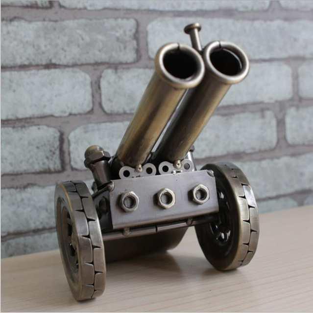 Antique Napoleon Iron Artillery Gun Replica Model Handmade Metal Cannon  Miniature Novelty Decor Souvenir Gift and Craft Ornament