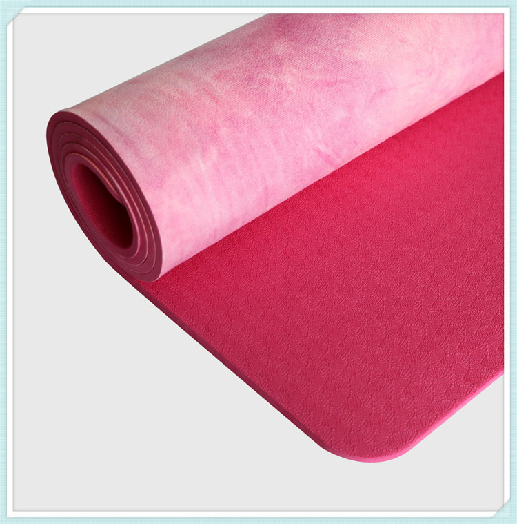 Hand-dyed Natural Suede TPE Yoga Mat Widened Anti-Slip Sweat Pilates Comfortable High Quality Fitness Pad 11