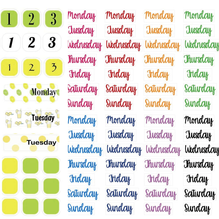 1pcs Cute Number Color Daily\Weekly\Monthly\Annual Planning Cycle Stickers DIY Ablum Diary Scrapbooking Label Sticker Stationery