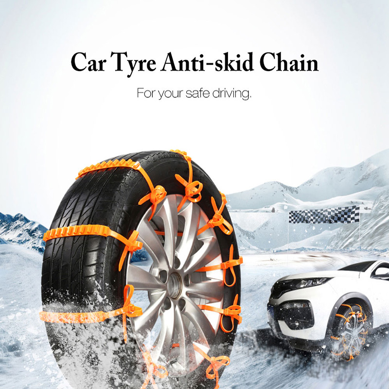 10pcs Car-Styling Anti-Skid Outdoor Autocross Car Universal Mini Plastic Winter Tyres wheels Snow Chains For Cars/Suv ...
