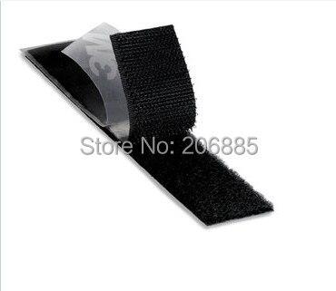 100% Original 3M Hook And Loop Acrylic Adhesive Fastener SJ3571 Loop And SJ3572 Hook, For Clothing Curtain Fastening Black Color