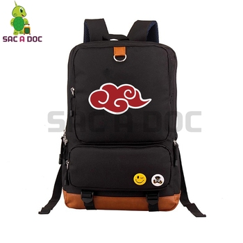 Anime Naruto Akatsuki Canvas Backpack Daily Backpack Uchiha Itachi Sasuke Sharingan Cosplay School Bags for Teenagers Travel Bag totoro anime cosplay backpack ogino chihiro cartoon canvas travel backpacks shoulders school bag best students gifts