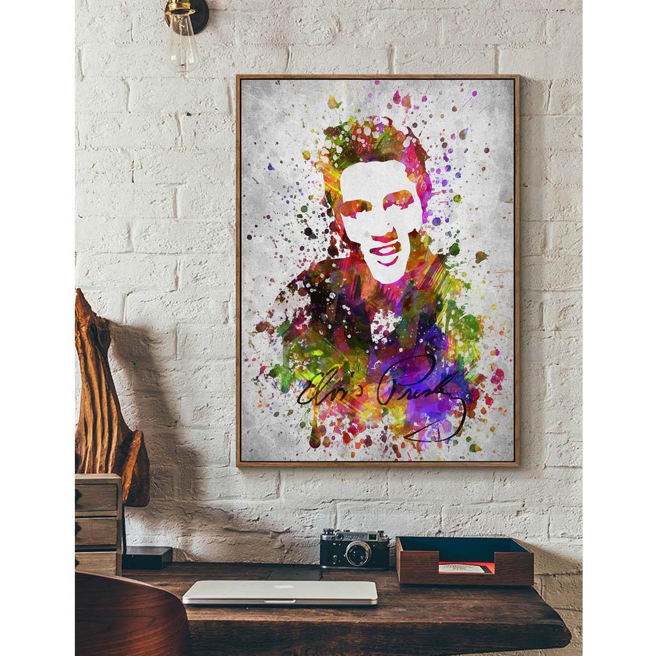 Elvis presley minimalism art art canvas poster print for Modern home decor gifts