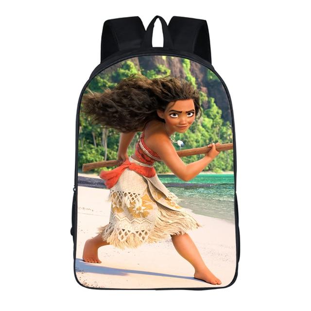 dff46bbd6110 ... девочек высокое качество сумки. 2018 Newest 16 Inch Schoolbag For Kids  Ocean Moana 3D Print Cartoon School Backpack Mochila For