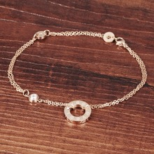 Simple Round Charm Women's Anklet